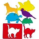 Henbea- Plantillas Mascotas traslúcidas, Multicolor (915)