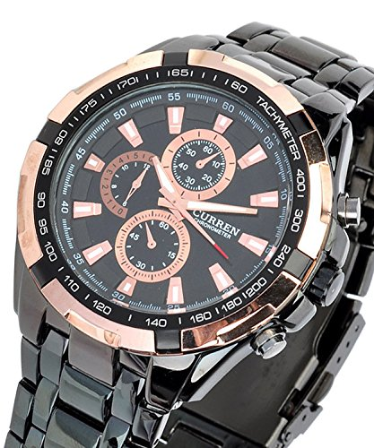GlobalFad Analog Water Resistant Black Dial Men's Watch - CUBBB0-A4