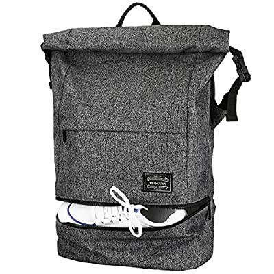 Lifeasy Anti-Theft Laptop Backpack 15.6in Waterproof Business Rucksack Roll Top Casual Daypack Travel Bag for Men & Women (Black, S) - casual-daypacks