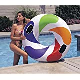 """Intex Inflatable Giant 48"""" Colour Whirl Tube Tyre Swim Ring Toy Lilo Pool Float"""