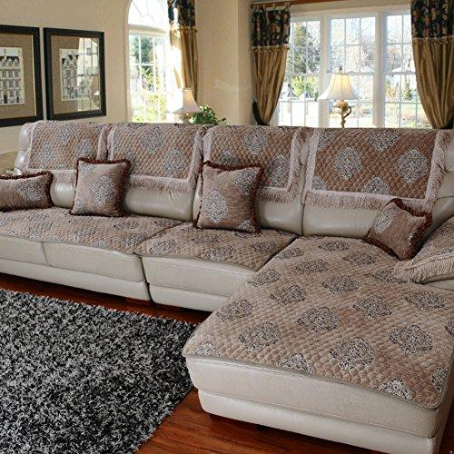 GDJVXCFV Europäisches Stoff Sofa Handtuch/Dickes Chenille-Sofa-Matte/Einfache Moderne Ledersofa/Non-Slip Vier Jahreszeiten Sofa Sets Von Kapuze-C 60x150cm(24x59inch) -