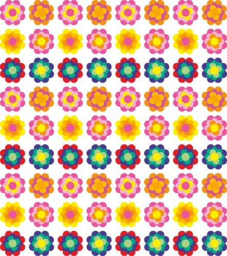 Pegatinas Pril Flores 30209572x 4,5cm Original Colores de los años setenta