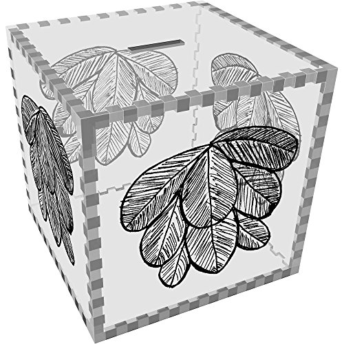 Groß 'Blatt' Klar Sparbüchse / Spardose (MB00065650) (Großen Bank Blättern)