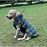 Sneff Trade Hundemantel Hundejacke Doppelseitig Reversible Grid Hundebekleidung Hunde Wintermantel Hundepullover Winterjacke Pet Dogs cats Jackets Coats(Rot, Beige, Braun, Grün) - 5