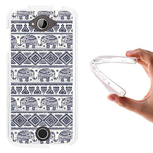 Acer Liquid Z530 Hülle, WoowCase Handyhülle Silikon für [ Acer Liquid Z530 ] Blauer Elefant Handytasche Handy Cover Case Schutzhülle Flexible TPU - Transparent