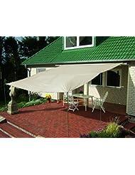 EXPLORER Sonnensegel mit UV Schutz (Polyester) wasserabweisend *verschiedene Aufbauvarianten* Sonne Strand Garten Terrasse Camping Caravaning Rechteck Quadrat