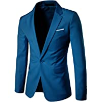 Allthemen Men's Casual Blazer Slim Fit Formal Business Suit Jackets One Button Single Breasted Sport Coat Tuxedo Daily…