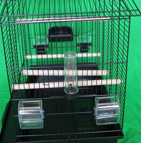 Vogelkäfig Vogelbauer Käfig IZA 3 Cabrio schwarz