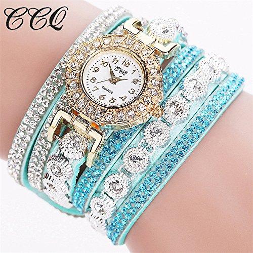 TianWlio Armbanduhren Damen Mode Luxus Lässige Analoge Quarz Frauenrhinestone Uhr Armband Uhr