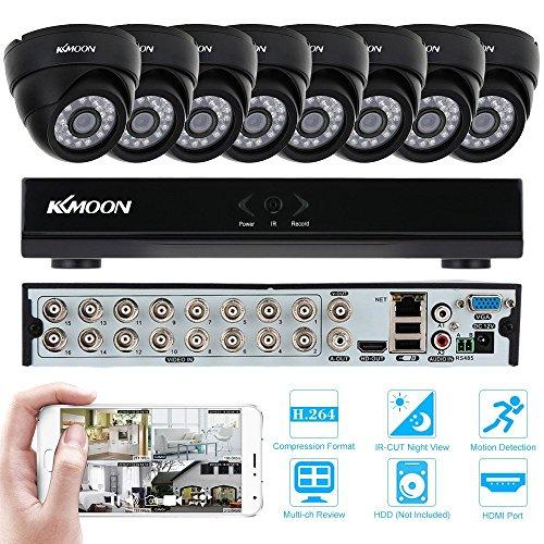 KKmoon-Kit-Sistema-de-Vigilancia-16CH-H264-960HD1-DVR-8x-800TVL-Cmara-Domo-IR-cut-P2P-Visin-Nocturna-Deteccin-de-Movimiento-Seguridad-Hogar