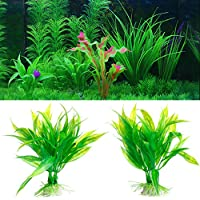 SimpleLife Fish Tank Aquarium Decor Green Artificial Water Plastic Plant Ornamento de la Planta