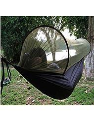 Hammock Moskitonetz - SUNNIOR Tragbare High Strength Parachute Stoff Hängematte Hängen Bett mit Moskitonetz für Outdoor-Camping-Reisen