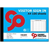Cherry Printers Visitor Sign in Book A4 100pages 80gsm