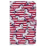 Funluna Samsung Galaxy Tab 4 7.0 Hülle, Stoßfest PU Leder Tasche mit Auto Schlaf/Wach & Ständer Funktion Dokumentschlitze Folio Schutzhülle für Samsung Galaxy Tab 4 7,0 SM-T230/T235, Pferd
