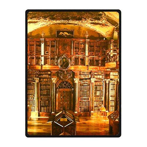 Dalliy personal custom coperta in pile libro di una biblioteca. fleece blanket 58