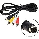 Childhood 1.8m Audio Vidéo Câble AV Câble 9Pin à RCA Cordon de connexion pour Sega Genesis 2 3