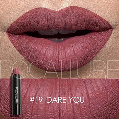 Babysbreath FOCALLURE Matte Lipstick Pen Matt Silky Lipgloss Attraktive Lippenstift Kosmetik für die Lippen 19#