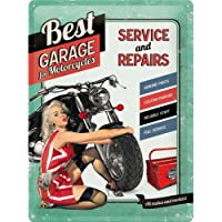Nostalgic-Art 23151 Best Garage - Best Garage - Green, Blechschild 30x40 cm