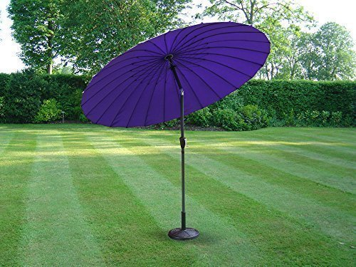 Dokon HZGM25 Sonnenschirm, wasserdicht, atmungsaktiv, Oxford-Gewebe, Gartenschirmhülle mit Reißverschluss, Schwarz