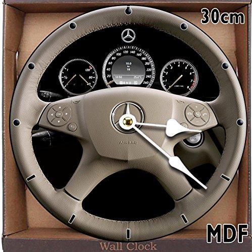 Mercedes-Benz C-Class Lenkrad MDF Wanduhr gro? 30?cm kann personalisiert werden