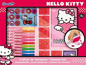 Hello Kitty - HKC 104 - Loisir Creatif - Coffret d'ativités - Tampons
