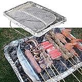 Chengstore - Griglia Portatile USA e Getta per Barbecue, con Vassoio in Carbonio Cotto, per Campeggio all'aperto