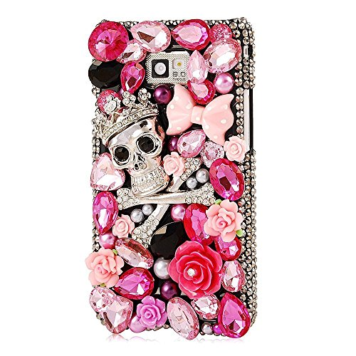 EVTECH(TM) for amsung Galaxy S6 Edge 3D Handmade Fashion Crystal Rhinestone Bling Case Cover Hard Case Clear(100% Handcrafted)