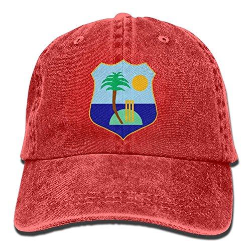 West Indies Cricket Board Flag Vintage Adjustable Denim Hats Gym Caps Forman and Woman