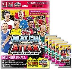 Topps Match Attax 2018/19 - 1 Starter + 5 Booster - Deutsch