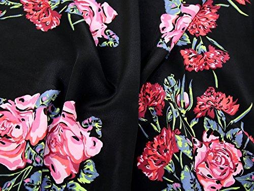 Floral Print Silk Crepe Kleid Stoff Multicolor-Meterware Silk Floral Kleid