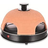 Emerio PO-115985 Four à pizza en terre cuite faite à la main Design breveté pour mini pizza, véritable plaisir en…