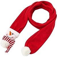 forme d/élan pour le cadeau de No/ël pour des enfants denfants /Écharpe dhiver,Enjoyall /écharpe de No/ël avec le vieil homme bonhomme de neige