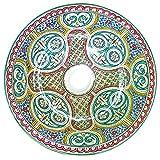 L'Orient Orientalisches Keramikwaschbecken Vintage 40cm | Handmade handbemalt handgemacht handgetoepfert orientalisches Waschbecken