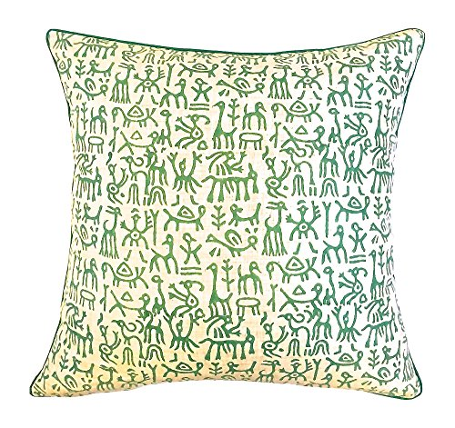 the-indian-promenade-16-x-16-inch-blended-cotton-warli-print-pastel-cushion-cover-green-beige