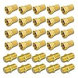 HD Sat F Stecker Verbinder vergoldet Verbindungsset 20 x F-Stecker 7 - 7,5 mm 10 x F-Verbinder Verbindung Kabel Kupplung Buchse Anlagen Koax 4K ARLI 20 Stück Stecker 7,0 7,2 7,5 mm 10 Stück Verbinder golde