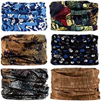 Seamless Multifunctional Headwear Bandana Scarf - Elastic Tube Magic Headband Gaiter Balaclava Face Mask UV Residence...
