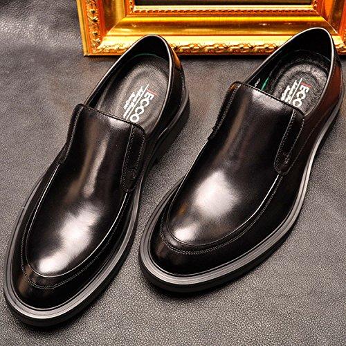 Affaires Homme Mocassins Chaussure Noir Classic Cuir Loisirs Wtus xaFAOq7aw