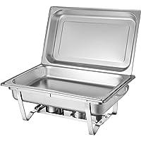 OU BEST CHOOSE Chafing Dish Chauffe-Plat en Acier Inoxydable 7.5L Réchauffeur à Nourriture Brunchs Buffet 56 x 34 cm