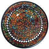Simandra Mosaikschale Tonschale Glasschale Dekoschale Mosaik Kunsthandwerk Glassteine Deko Rund Spiegel S Color Orange