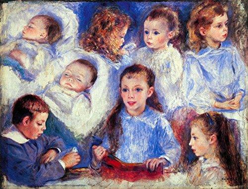 Der Charakter der Museum Outlet-Bilder der Kinder Köpfe von Renoir, gespannte Leinwand Galerie verpackt. 29,7x 41,9cm