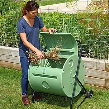 140 litre rotary small garden composter u2013 compost bin mantis