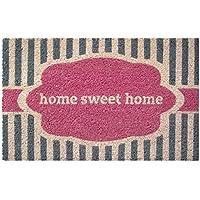Entryways Felpudo (43 x 71 cm, fibra de coco y base de PVC antideslizante), diseño con inscripción Home Sweet Home
