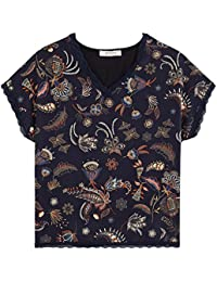 Promod T-Shirt aus Materialmix