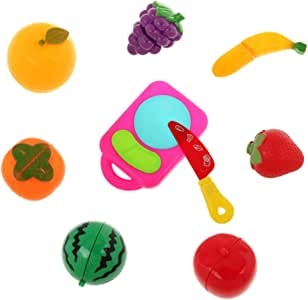 Pretend Role Play Kitchen Fruit Vegetable Food Children Kid Educational Toy Cutting Set