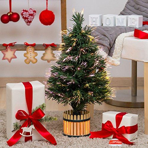 Albero Artificiale Verde, Fibre ottiche, 60 cm, Lampada 12V 10W, Alberi di Natale Artificiali, Alberi con Fibre ottiche