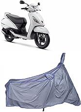 MotRoX Ultrathin Japanese Silver Two Wheeler Cover for TVS Jupiter (100% WaterProof Fabric)