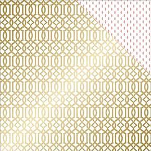 Teresa Collins 25fogli progetto lattice rosa cartoncino biadesivo, 30,5x 30,5cm