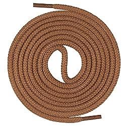 Mount Swiss runde Premium-Schnürsenkel aus 100% Baumwolle - sehr reißfest Farbe Hellbraun Länge 140cm
