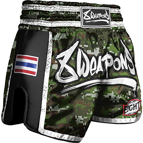 8 WEAPONS Shorts, Super Mesh, camo Größe XXL (Muay Thai Shorts Camo)