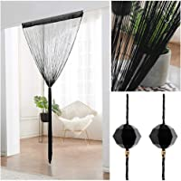 UNIAI Crystal Plain Tassel Door Curtain - 90x200cm Door String Tenda Thread Fringe Window Panel Room Divisorio Carino…